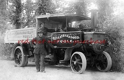 RP REPRO # dorset poole steam lorry