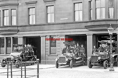 RP REPRO # fire engine brigade #  glasgow russell street