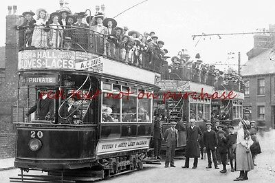RP REPRO # burton and ashby light railway trams
