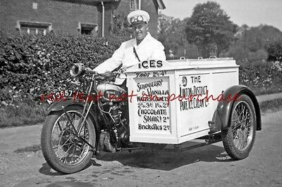 RP REPRO # ice cream seller on bicycle #3 linton