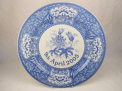 "Spode Blue & White Charger Charles & Camilla Wedding Compton & Woodhouse 12.5"" D"