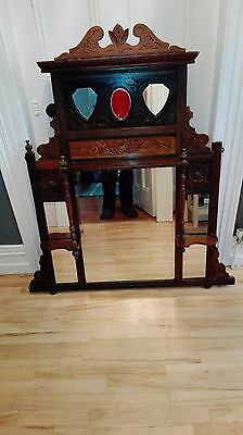 Overmantle Mirror- Edwardian In Good Condition