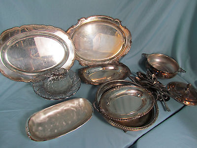 Silverplate Lot 14 lbs Mixed Flatware Set for Scrap Silver Recovery or Resale