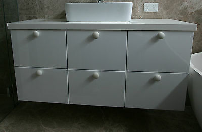 1200 wide wall hung 6 drawer vanity cabinet