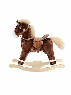 Rocking Horse with sound Vintage Classic Toy Jolly Fun Ride Children Kids Gift