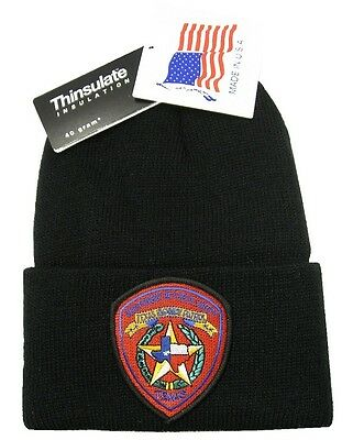 Texas Highway Patrol Patch Knit Cap - 40g Thinsulate Insulation - Black
