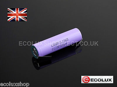 LG AB 18650 F1L 3300mAh Rechargeable 3.7v Li-Ion Battery with Tab's Tag's UK