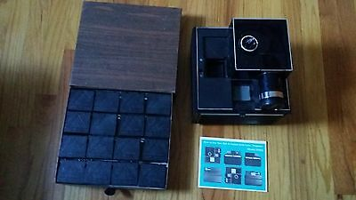 Vintage Bell & Howell Slide Cube Projector 975Q + 20 empty cubes, PRICE Reductio