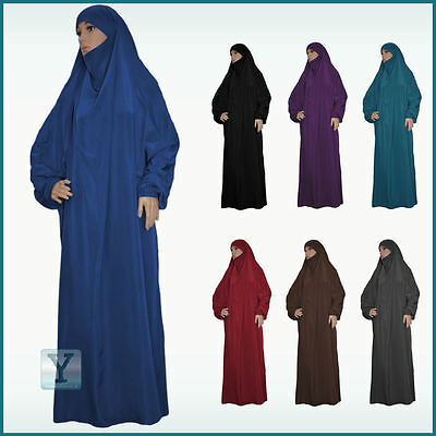 Overhead Jilbab many colors one Piece Hijab Abaya Khimar Headscarf Prayer dress