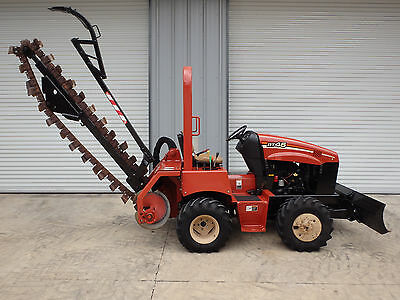 2010  Ditch Witch  RT45  center cut trencher LONG BOOM, 4 way backfill blade