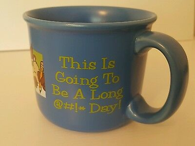 Vintage 1997 Warner Brothers Taz Mug This is going to be a long day !.