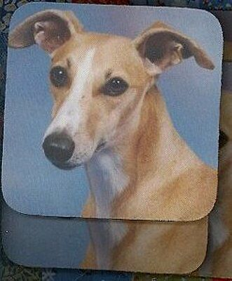 WHIPPET FAWN Rubber Backed Coasters #3012