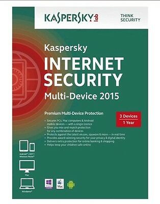Kaspersky Internet Security 3 Pc/1an