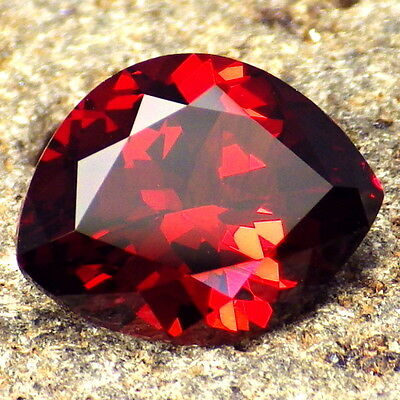 MALAYA GARNET-E.AFRICA 4.06Ct FLAWLESS-FOR TOP JEWELRY-INCREDIBLE NATURAL COLOR!