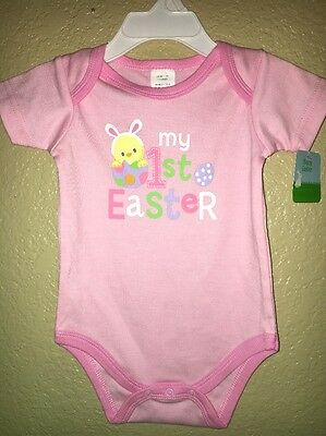 INFANT BABY GIRL 1st EASTER BODYSUIT CLOTHES 0-3 Months NWT