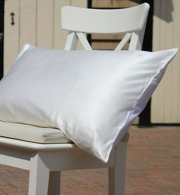100% Silk Charmeuse Pillow Case 19 Momme Both Sides Mulberry Silk Ivory White