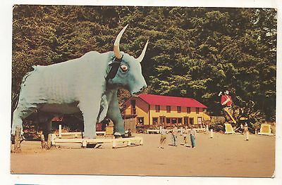 Babe the Blue Ox, Paul Bunyan, Trees of Mystery Tourist Trap CA Vintage Postcard