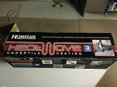 Homelux Under Floor Electric Heating Mat 4 SQM  NEW SEALED  £153 in BQ Free P&P