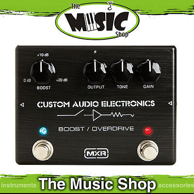 New MXR MC402 Custom Audio Electronics Boost/Overdrive Pedal - MXC402 CAE