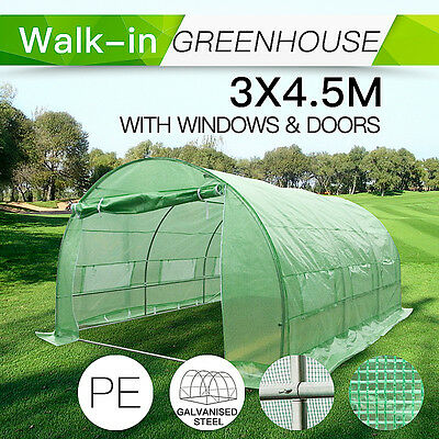 3M x 4.5M Garden structure and Shade PE Polytunnel Greenhouse Shed