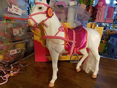 """20"""" Horse 18 """" Doll Our Generation Saddle Stall & Accessories"""