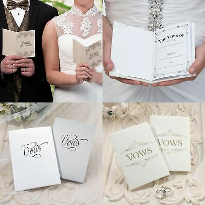 Wedding Vows Booklets Bride Groom Ceremony Supplies His and Her Gift