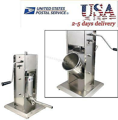 Brand New Sausage Stuffer Vertical Stainless Steel 5L 11 Pound Meat Filler