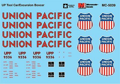 Model Trains HO ****Union Pacific***** MC-5039 Decals