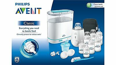 Avent Classic Bottle Solution Set Incl Steriliser And Food Warmer 16 Piece Set