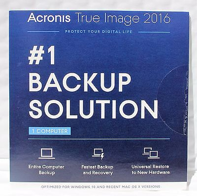 *NEW* Acronis True Image 2016 For PC & Mac 1 PC Backup & Recovery for windows 10