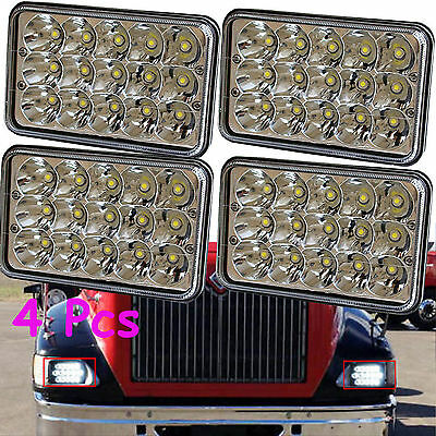 4PCS LED Headlights for Kenworth T400 T600 T800 W900B W900L Classic 120/132 USA