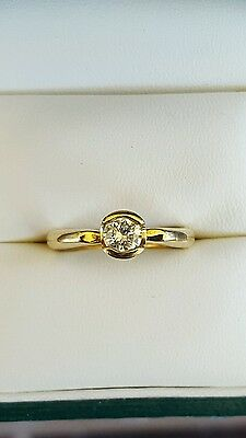 Genuine 18Ct Solid Yellow Gold 0.50Ct Solitaire Engagement Diamond Ring