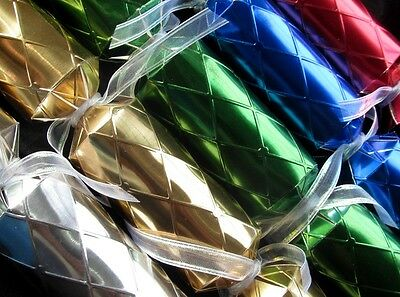 Christmas cracker DIY KIT, metallic foil multicolor, make your own party poppers