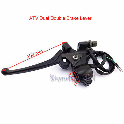 Dual Double Brake Lever For Chinese 49 50cc 70cc 90cc 110cc ATV Quad 4 Wheelers