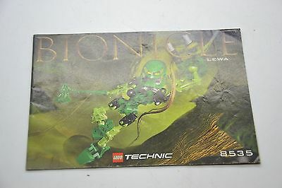 Lego Technic Bionicle 8535 Instruction Manual Book Booklet Only
