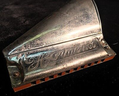 "F.A. RAUNER  RARE & VINTAGE ""Hornetta"" Harmonica!! Made in Germany"