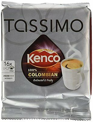 TASSIMO Kenco Colombian 16 Capsules  Pack of 5, Total 80 Capsules