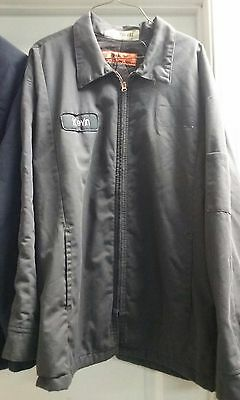 Pre-owned Cintas CHARCOAL GREY Insulated Uniform Work Jacket Zip-up Mechanic