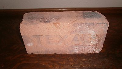 "VINTAGE ""TEXAS"" Imprinted Brick ~ Collectible Antique Decorative Garden Brick"