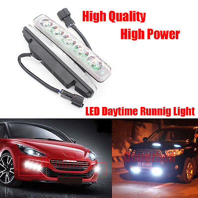 E4 Waterproof DRL LED Car Driving work fog lamps led Daytime Running light 1set