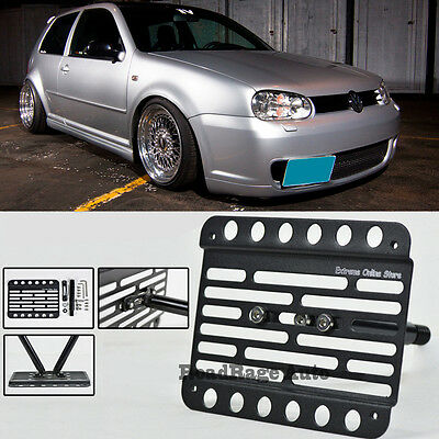 FOR 98-05 VOLKSWAGEN GTI MK4 Front Bumper Tow Hook License Plate Mount  Bracket