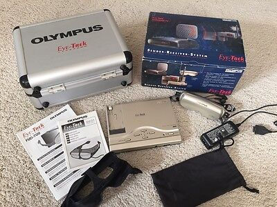 OLYMPUS EYE TREK FMD-700 - LCD Video Glasses, Case, AV Sender, Black Out - VGA!