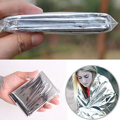 10pcs Foil Space Blanket Emergency Survival Blanket Thermal Rescue First Aid