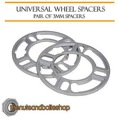Wheel Spacers (3mm) Pair of Spacer Shims 5x118 for Renault Trafic [Mk2] 01-14