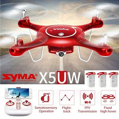 Syma X5UW 6-Axis Quadcopter Drone Real Time WIFI HD Camera FPV RC Helicopter UK