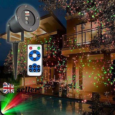 UK Outdoor Christmas Light Sky Star Laser Spotlight Led Lamp Shower Garden Xmas