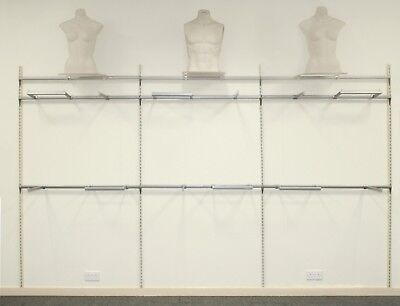 Shop Retail Wall Display System (Each 1.2 Metre Linear Bay)