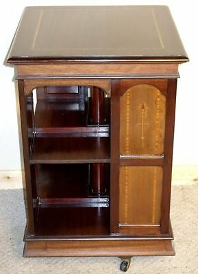 Edwardian Art Nouveau Mahogany Revolving Bookcase, nationwide delivery