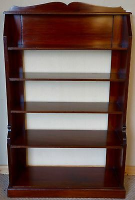 Open Mahogany Polished Bookcase, c.1920 nationwide delivery available