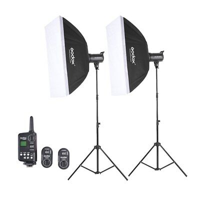 2X Godox SK300 Studio Strobe Flash + FT-16 Trigger + 60*90 Softbox + Light Stand